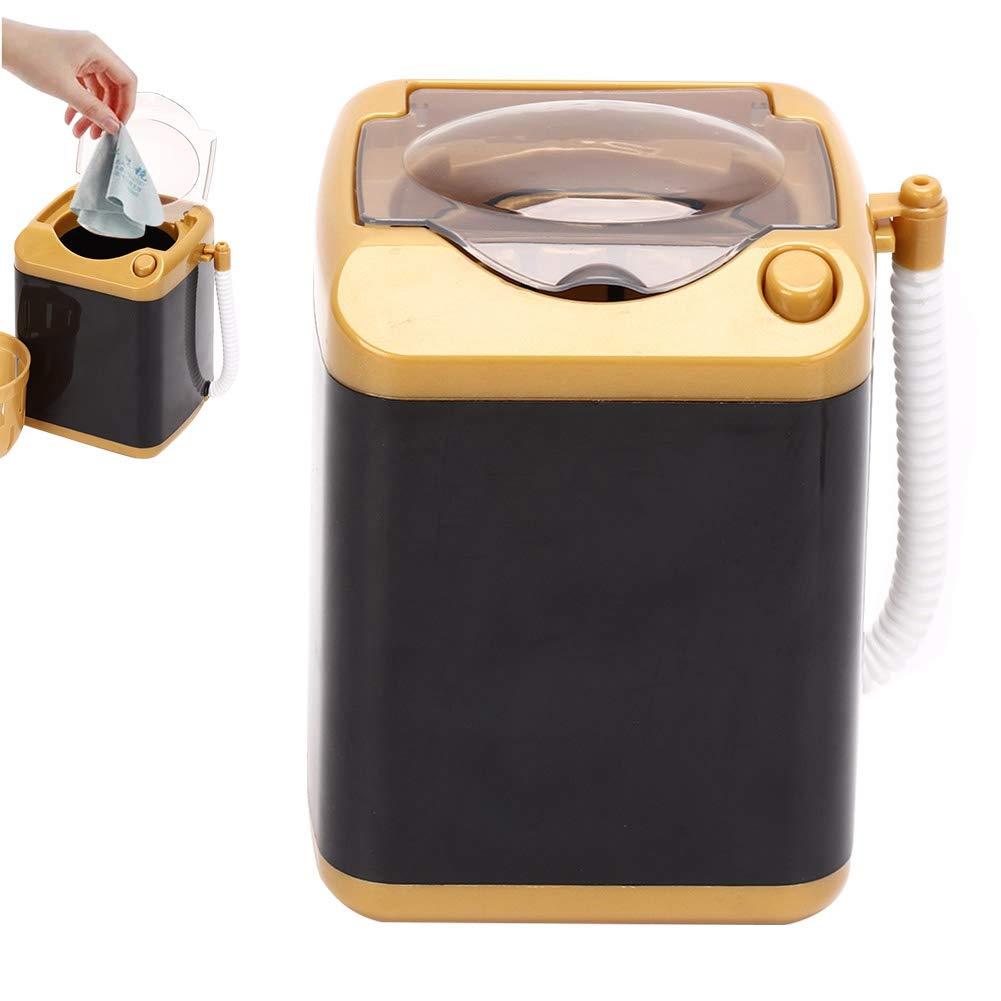 01 Pulizia rapida e asciugatura rapida Lavatrice Giocattolo per bambini Regalo Mini lavatrice elettrica per spazzole per il trucco con funzione di disidratazione