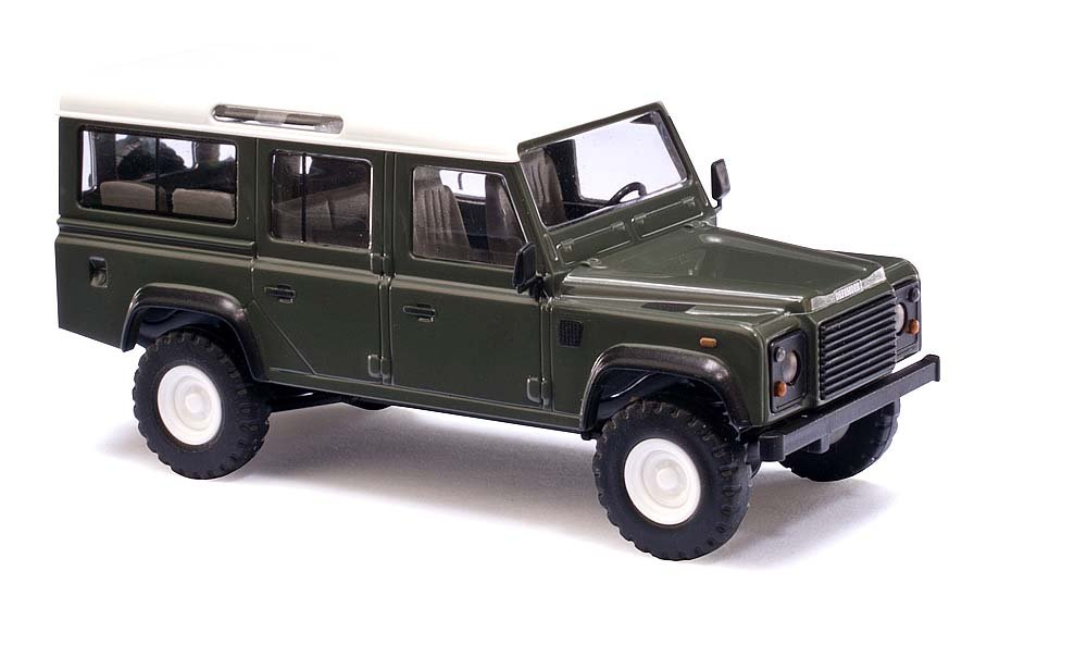 Busch 50301 Land Rover Defender Grn HO Scale Vehicle