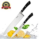 Aicok Knife Set, Kitchen Knives with 8 Inch Chef Knife and 5 Inch Paring Knife, High Carbon Stainless Steel Professional Ultra Sharp Fruit Vegetable Cooking Knife
