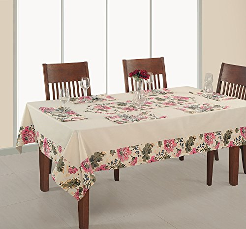 ShalinIndia Banquet Tablecloth 60 x 120 Inches for 8-10 Seater 8 Feet Rectangular Center Dining Table in Indian Cotton Cloth - 8 Table Seater