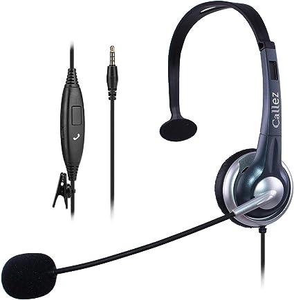 Cuffie Telefono Cellulare Mono con Microfono a Cancellazione