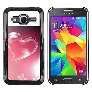 LECELL -- Funda protectora / Cubierta / Piel For Samsung Galaxy Core Prime SM-G360 -- Pink Heart --