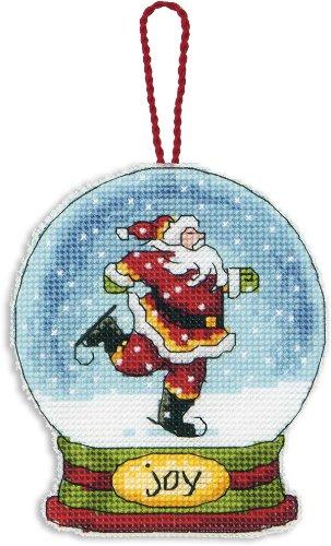 Dimensions Crafts Counted Cross Stitch Ornament, Joy Snow Globe