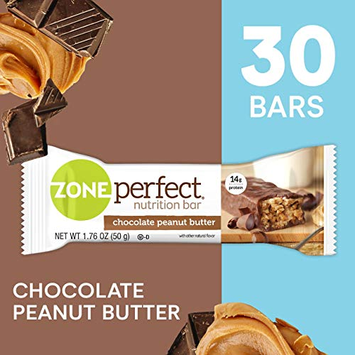 ZonePerfect Nutrition Snack Bars, Chocolate Peanut Butter, 1.76 oz, (30 Count)