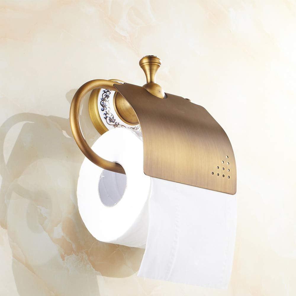 tenedor europeo de la toalla de papel del tenedor del tel/éfono m/óvil del retrete portarollos papel higienico,Rollo antiguo del oro del tenedor del papel higi/énico