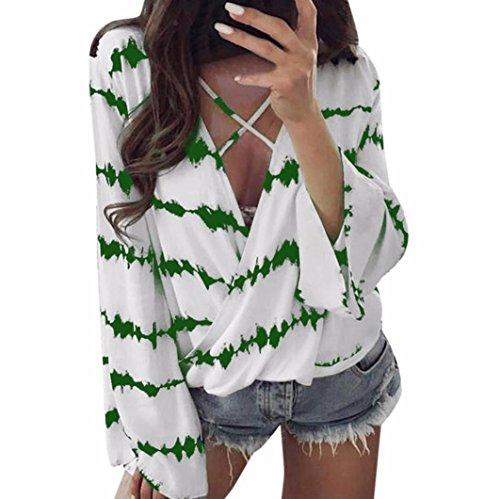 [S-3XL] レディース Tシャツ シフォン 花柄 ストライプ カジュアル 長袖 トップス おしゃれ ゆったり 人気 高品質 快適 薄手 ホット製品 通勤通学
