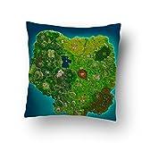 Fortnite Map Pillow
