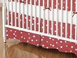 SheetWorld - Crib Skirt (28 x 52) - Cloudy Stars Rust - Made In USA