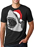 Mens Santa Jaws T Shirt Cool Christmas Hat - Best Reviews Guide