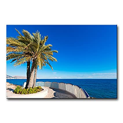 Wall Art Decor Poster Painting On Canvas Print Pictures Altea Beach White Mediterranean Village Alicante of