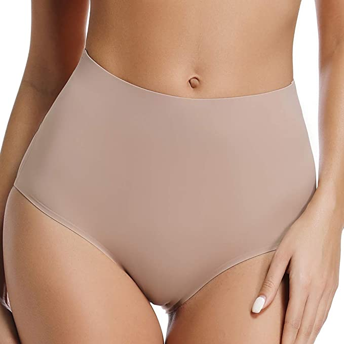 723c0c742 Seamless Panties High Waisted Nylon Spandex Hipster Panties for Women No  Show Underwear 2 Pack (