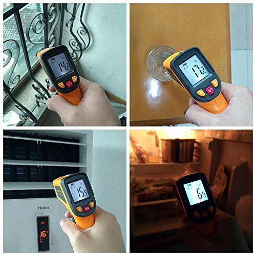 KETOTEK IR Infrared Thermometer,Non-contact Digital Laser Infrared Thermometer Temperature Gun -58℉- 1112℉(-50℃ - 600℃)with LCD Display for Kitchen Food Meat BBQ Automotive and Industrial by KETOTEK (Image #8)