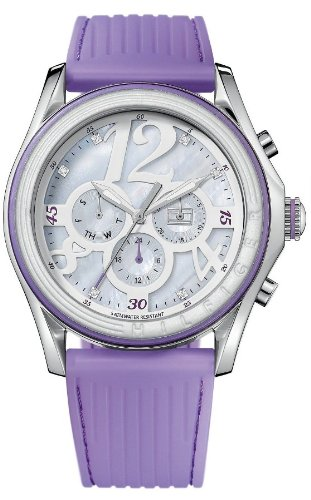 Tommy Hilfiger MOP Dial SS Silicone Chrono Quartz Ladies Watch ()