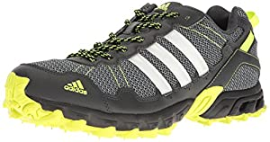 adidas Performance Men's Rockadia M Trail Runner, Dark Grey/White/Electricity, 11.5 M US