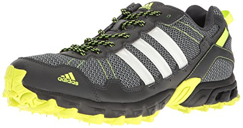 Adidas Men's Rockadia M Trail Running Shoe, Dark Grey/White/Electricity, 9 M US