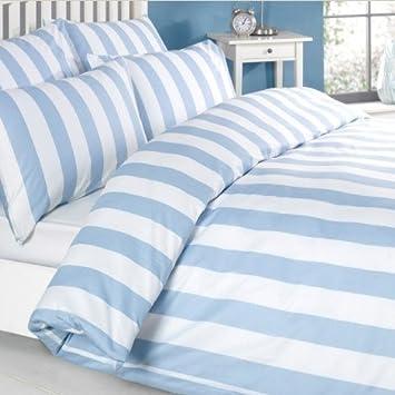 Louisiana Bedding Bettwasche Bettbezug Set Blau Weiss Weiss