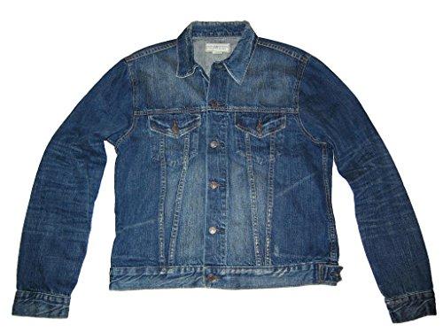 Ralph Lauren Denim & Supply Mens Distressed Denim Rancher Jacket Blue (Large)