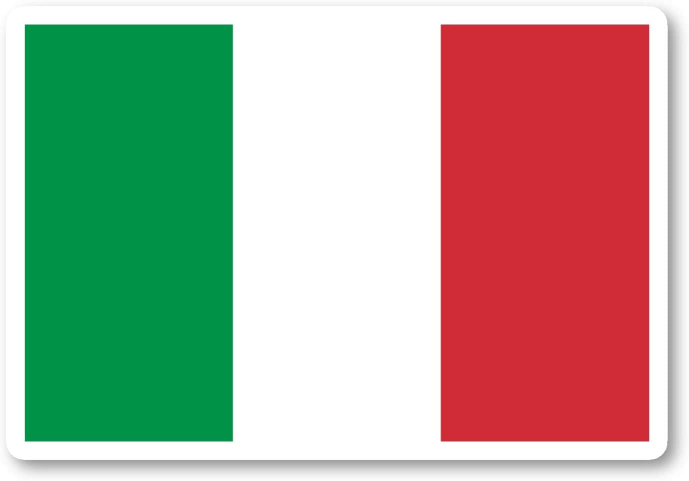 "Italy Flag Italian Flag Sticker Flags Stickers - Laptop Stickers - 4"" Vinyl Decal - Laptop, Phone, Tablet Vinyl Decal Sticker S140783"