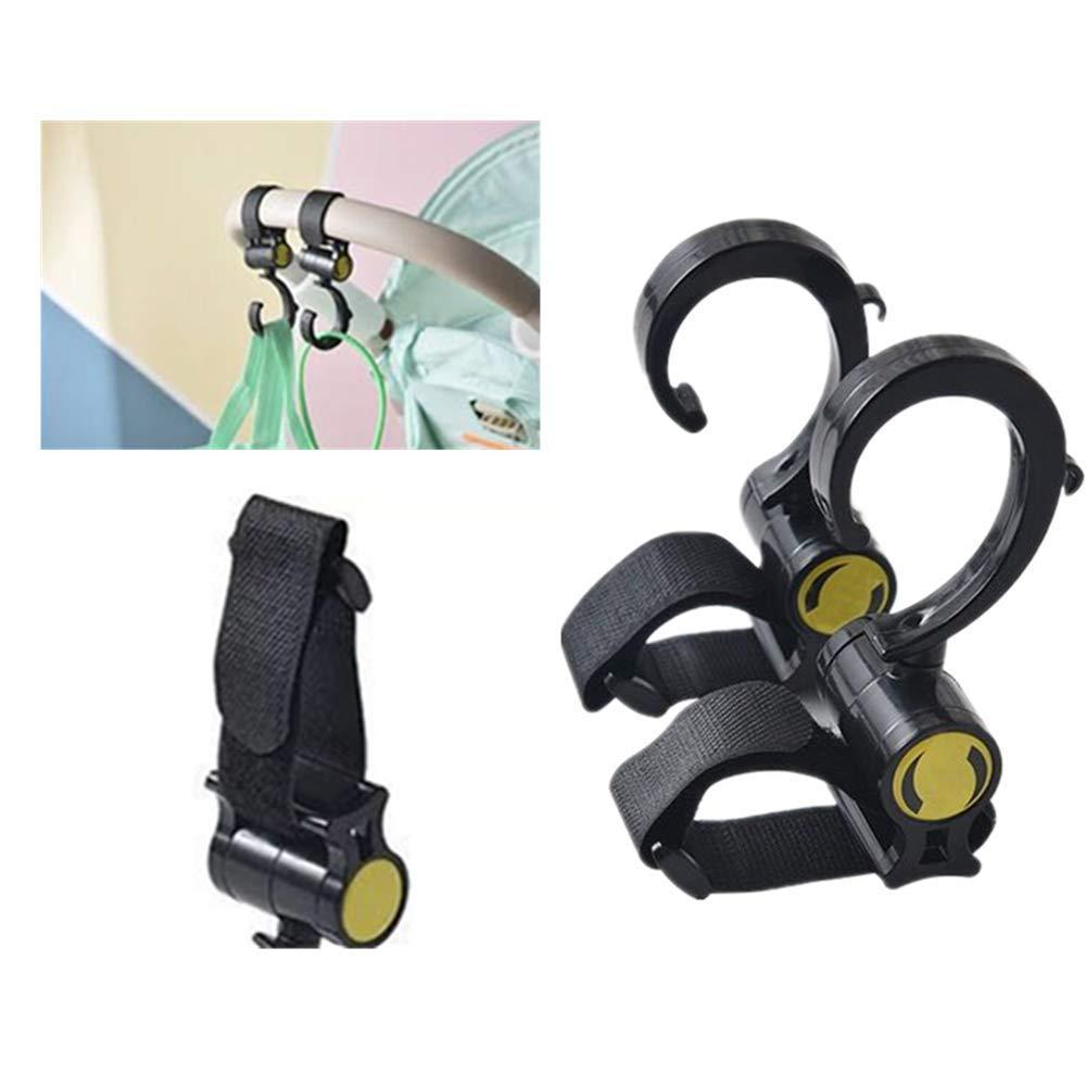 Pack of 3 Pram Hooks Buggy Pushchair Bag Shopping-bag Holder Clips