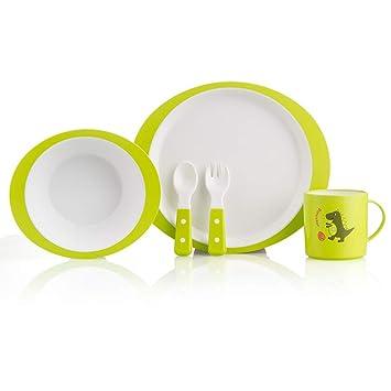 Kinder Melamin Geschirr Set Geschenkset Tasse Schale Teller