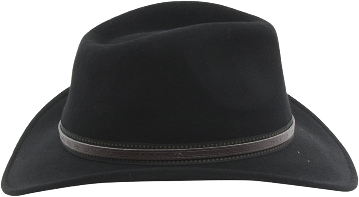Scala Mens Crushable Wool Outback Hat Df105