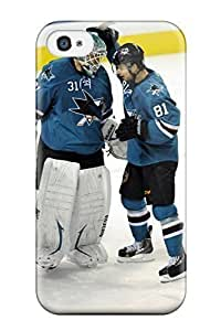 New Fashion Case New Fashion Premium Tpu case cover For Iphone 4/4s - San Jose Sharks Hockey YCYfeAi9Vy5 Nhl For Penachouys by ruishername