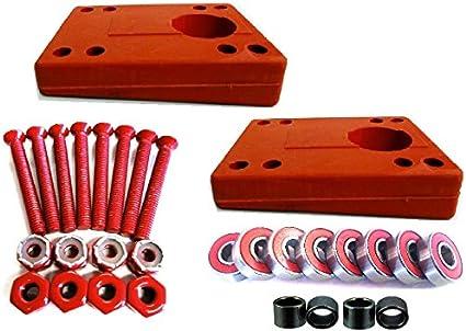 "1.5/"" Hardware Cal 7 Truck 1//8/"" Skateboard Riser Pads Rubber Red Color"