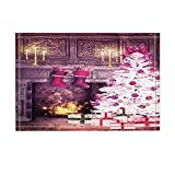 NYMB Christmas Bath Rugs, There Were Socks Hanging On The Fireplace, Non-Slip Doormat Floor Entryways Indoor Front Door Mat, Kids Bath Mat, 15.7x23.6in, Bathroom Accessories