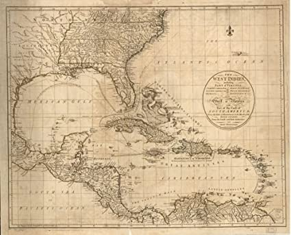 Map Of South Georgia And North Florida.Amazon Com 1783 Map The West Indies Including Part Of Virginia
