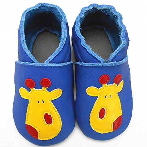 Sayoyo Baby Cute Deer Soft Sole Leather Infant And Toddler Shoes Blue A1066-CA