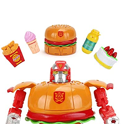 ocijf179 Transformable Hamburger Cake Food Figure Robot Deforming Kids Toy Party Favors,Perfect Training Children's Intelligence Gifts French Fries: Garden & Outdoor