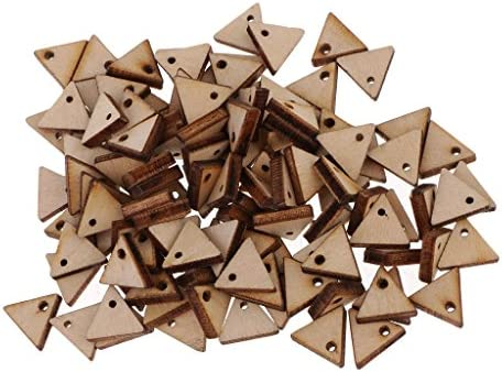 三角形木片 インテリア装飾品 スライス 未完成 穴付き 接着 彫刻 全6サイズ - 10ミリメートル