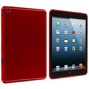 Red Plain TPU Rubber Skin Case Cover for Apple iPad Mini