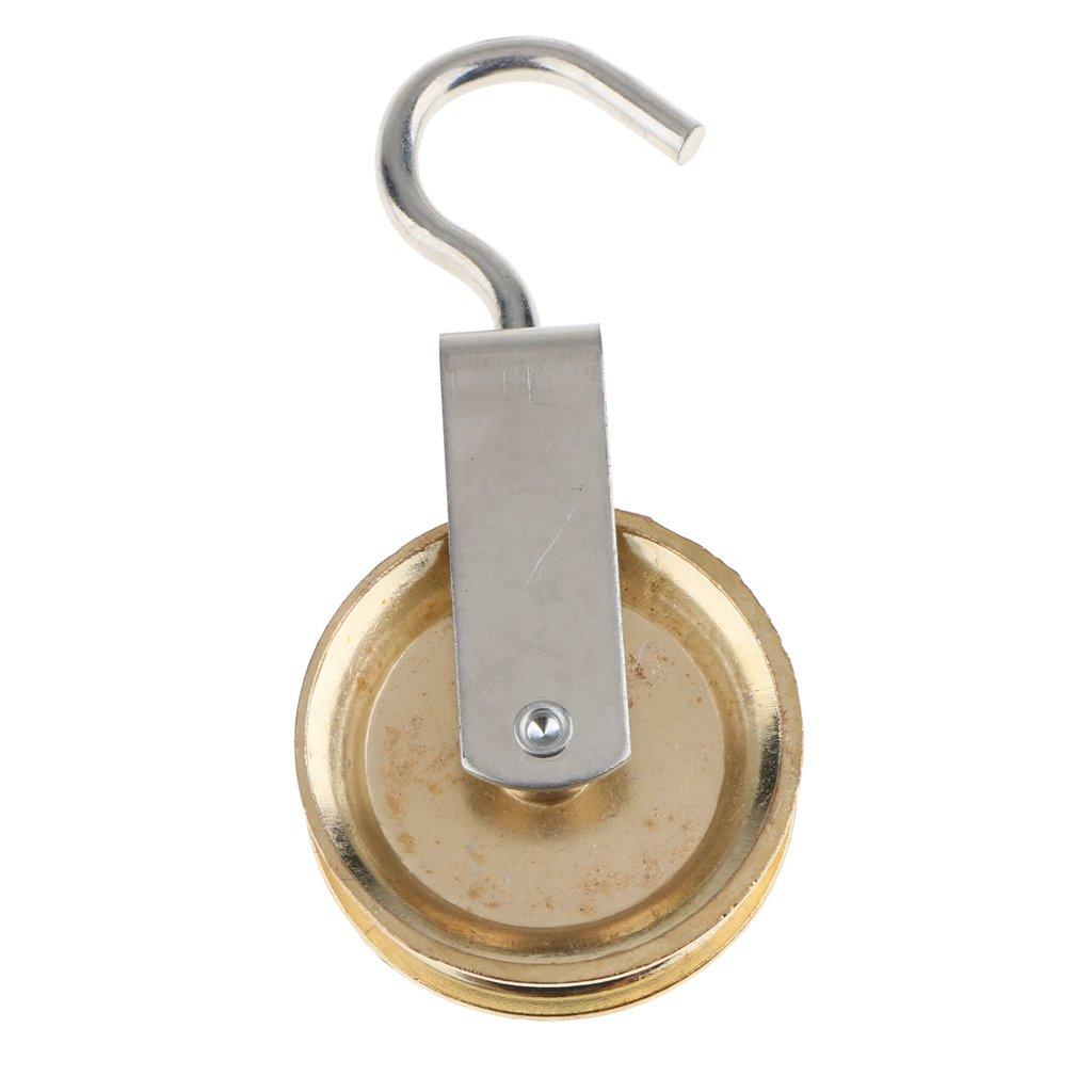 Silber 60mm Zinklegierungs Schwenkerriemenscheibe H/ängendes Takelage Hebeseil Anhebendes Rad