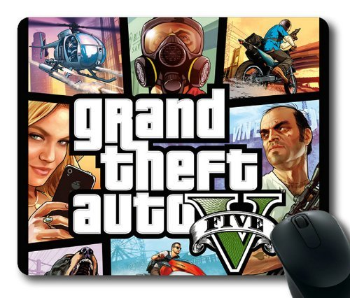 GTA 5 Cover Art Mouse Pad, Customized Rectangle Mousepad Diy By