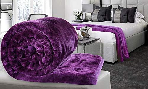 Craftscity Polyester 480 TC Blanket (Standard_Purple)