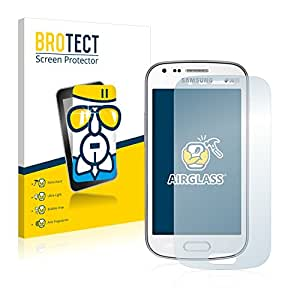 BROTECT AirGlass Protector Pantalla Cristal Flexible Transparente para Samsung Galaxy S Duos 2 S7582 Protector Cristal Vidrio - Extra-Duro, Ultra-Ligero, Ultra-Claro