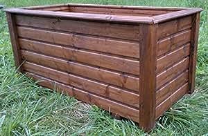 Maceta de madera classiv 80x 60x 60cm barnizado con barniz para madera palisandro