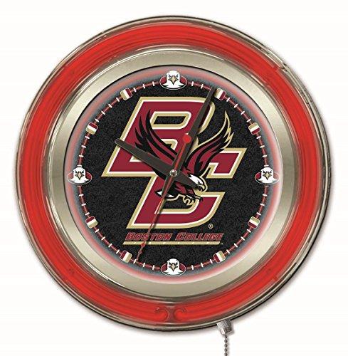 - Holland Bar Stool Company NCAA Boston College Eagles Double Neon Ring 15-Inch Diameter Logo Clock