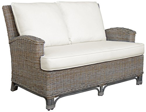 Panama Jack Sunrooms PJS-3001-KBU-LS Exuma Loveseat with Cushions, Bahamian Breeze Cinnamon