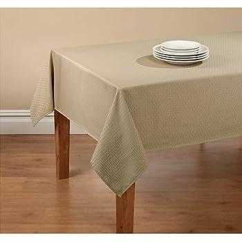 Amazon.com: Vinyl Flannel Backed Indoor Outdoor Tablecloth ...