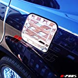 A-PADS Chrome STAINLESS STEEL Gas Door Cover for Chrysler 300C 2005-2010 - Metal Fuel Tank