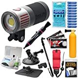 SeaLife SL675 Sea Dragon 4500 Lumens Underwater Photo/Video LED Dive Light with Diving Monopod + Suction Cup & Buoy Mount + Kit
