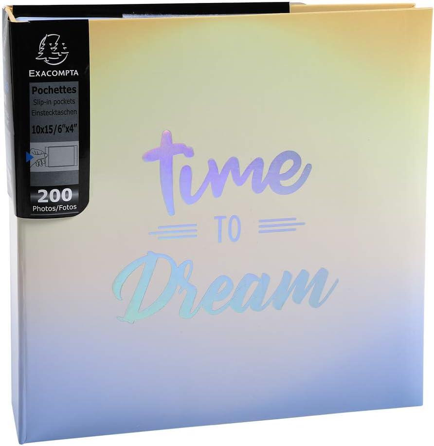 Format 22,5x22 cm Album photos /à pochettes 200 photos 10x15cm CANDY BLUE