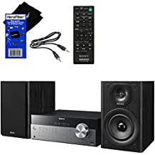 Sony All In One Stylish Micro Music Stereo System with Wireless Streaming NFC (Near Field Communications), Bluetooth, USB, CD player & AM/FM tuner + Remote + Auxiliary Cable + HeroFiber Cloth