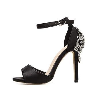 c7c83dc4d220a Amazon.com: YXB Women's Stilettos Sandals 2019 New Rhinestone ...