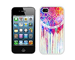 Cute Apple Iphone 4s Case Durable Soft Silicone TPU Colorful Dream Catcher White Cell Phone Case Cover for Iphone 4