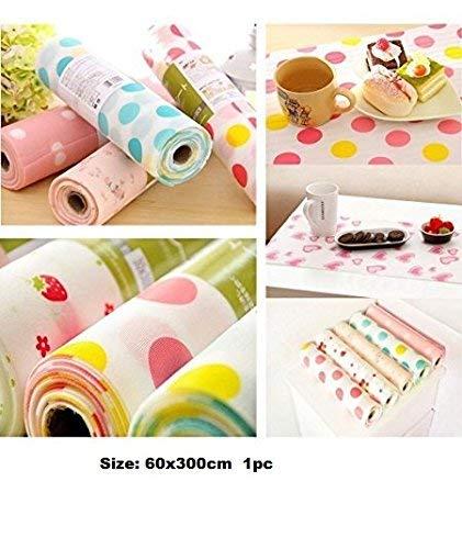 Skywalk PVC Anti-Slip Cupboard Liner Mat and Drawer Liner Mats, 60x500cm (Multicolour)