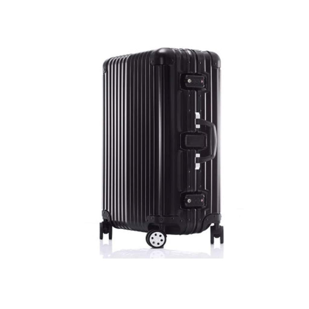 荷物、超軽量フルトランスペアレントスーツケースユニバーサルホイール搭乗シャーシトロリーケースパスワードボックスブラック (色 : 67L)   B07JK1LYS5