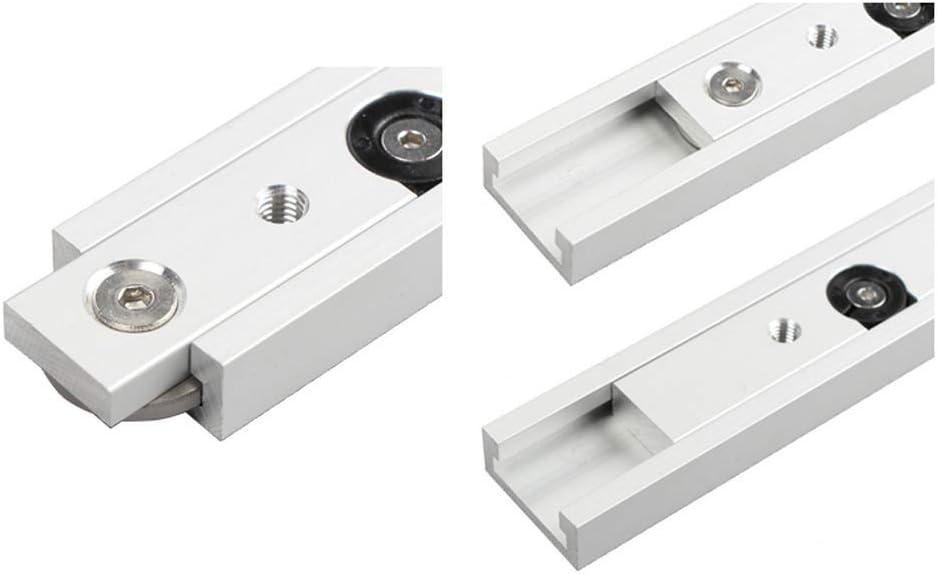 guide universel et rail de guidage darr/êt JIRCA Glissi/ères de tiroir 450MM rail de guidage en alliage daluminium